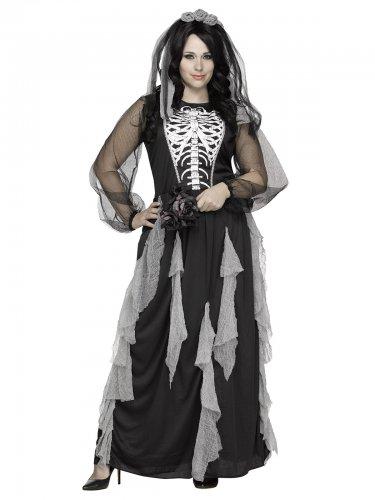 Skelet bruid kostuum voor dames