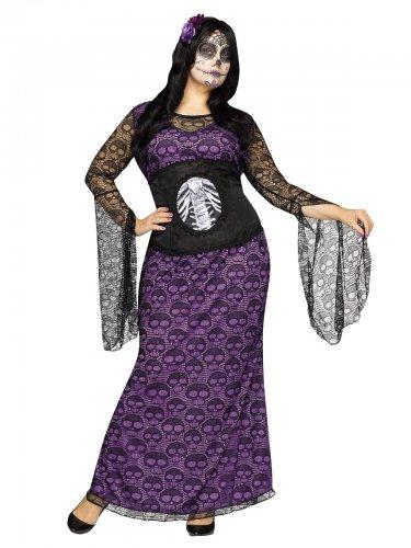 Dia de los Muertos kostuum voor vrouwen - Grote Maten