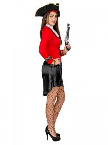 Zwart en rood piraten kostuum voor vrouwen-1