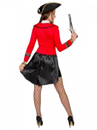 Zwart en rood piraten kostuum voor vrouwen-2