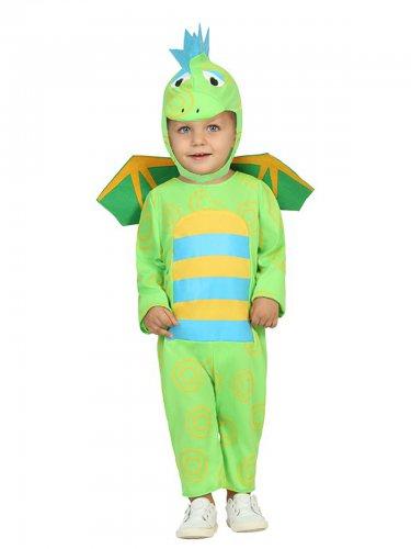 Klein groen dinosaurus kostuum voor baby's