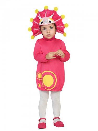 Roze dinosaurus kostuum voor baby's