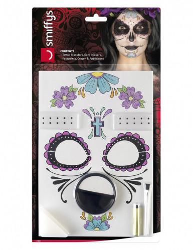 Dia de los Muertos schmink set voor vrouwen -2