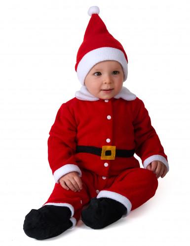 Klassiek wit en rood kerstman kostuum voor baby's