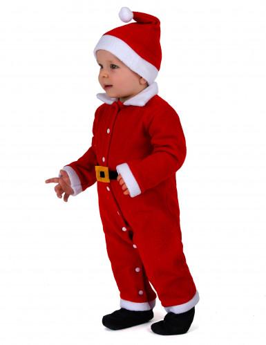 Klassiek wit en rood kerstman kostuum voor baby's-1
