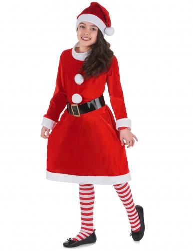 Kerstvrouw kostuum voor meisjes-1
