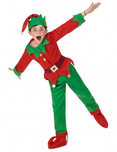Kerstelf kostuum voor kinderen-4
