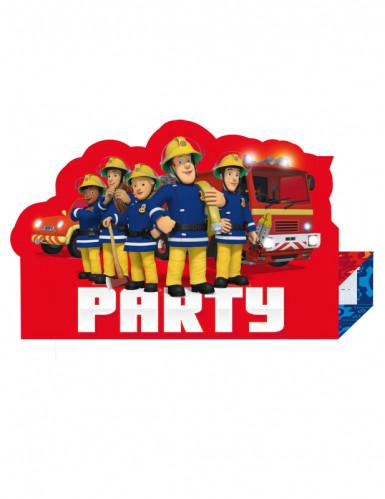 8 Sam de Brandweerman™ uitnodigingen