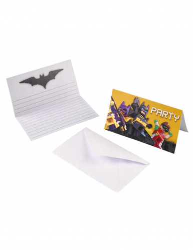 8 Lego Batman™ uitnodigingen