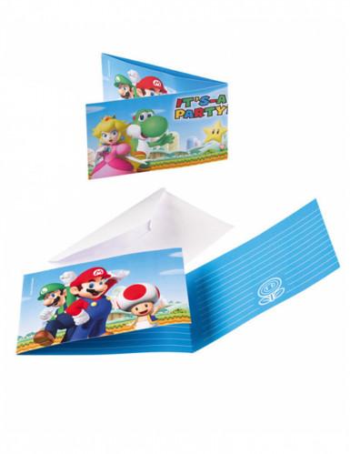 8 uitnodigingen en enveloppen Super Mario™