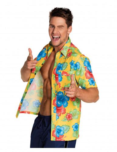Hawaiiaanse bloemen blouse voor volwassenen