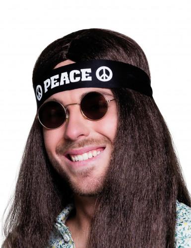 Zwarte peace hoofdband voor volwassenen