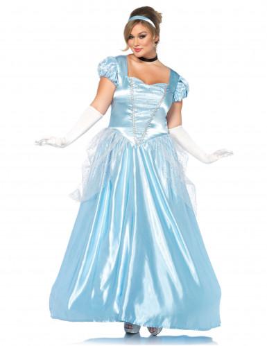 Blauw Assepoester kostuum voor vrouwen - Grote Maten