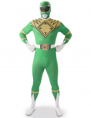 Groen Power Rangers™ kostuum voor volwassenen