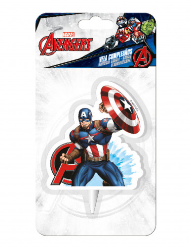 Captain America verjaardagskaars-1