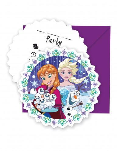 6 Frozen™ feestuitnodigingen