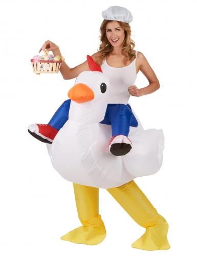 Opblaasbare kip kostuum voor volwassenen-1
