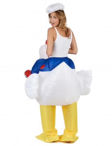 Opblaasbare kip kostuum voor volwassenen-2