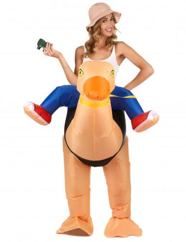 Opblaasbaar struisvogel kostuum voor volwassenen-1