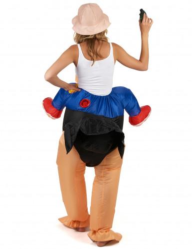 Opblaasbaar struisvogel kostuum voor volwassenen-2