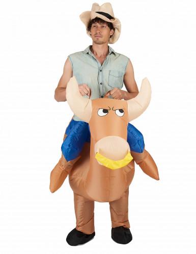 Opblaasbare rodeo kampioen kostuum voor volwassenen-1