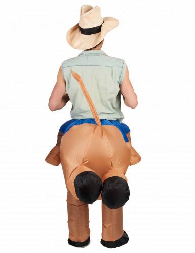 Opblaasbare rodeo kampioen kostuum voor volwassenen-2