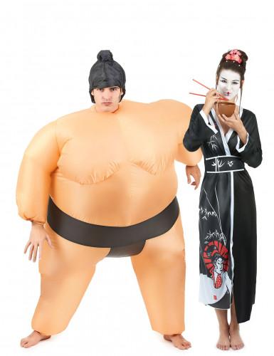 Sumo en geisha koppelkostuum