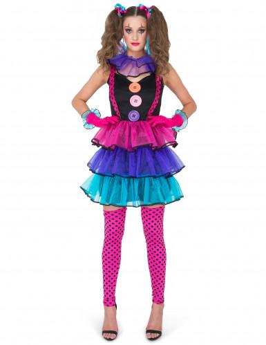 Carnaval clown kostuum voor vrouwen-1