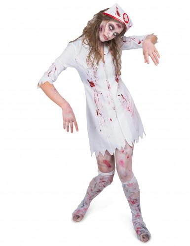 Bebloede zombie verpleegster jurk voor vrouwen