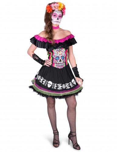 Dia de los Muertos Mariachi kostuum voor vrouwen
