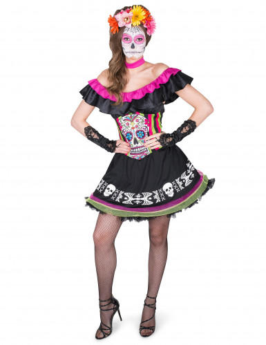 Dia de los Muertos Mariachi kostuum voor vrouwen-1