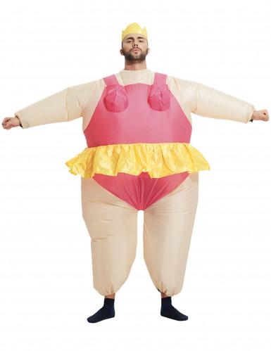 Opblaasbaar ballerina kostuum voor volwassenen