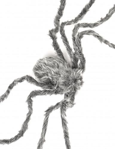 Enorme grijze spin decoratie-1