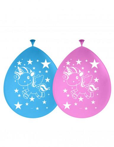 8 latex eenhoorn ballonnen