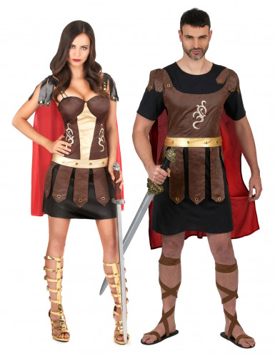 Romeinse gladiator koppelkostuum voor volwassenen