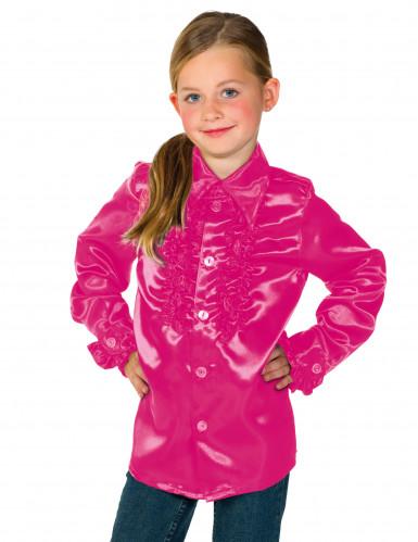 Roze blouse met franjes voor kinderen