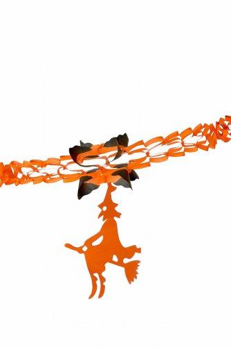 Zwarte en oranje papieren heksen slinger-1