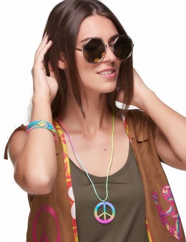 Veelkleurige hippie armbanden en ketting voor volwassenen-1