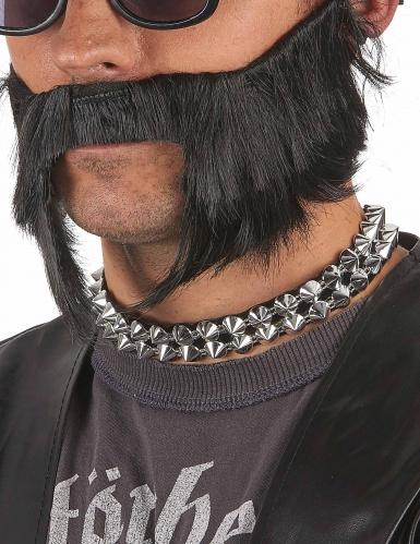 Zilverkleurige punk halsband voor volwassenen