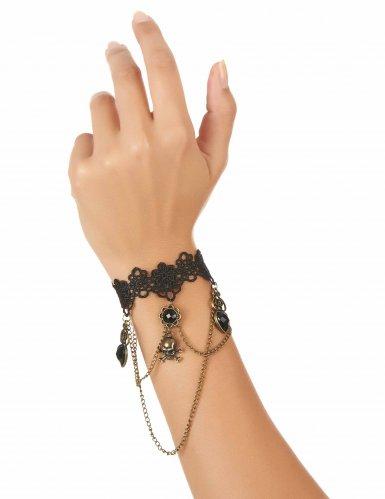 Zwarte kanten armband juweel voor volwassenen-1