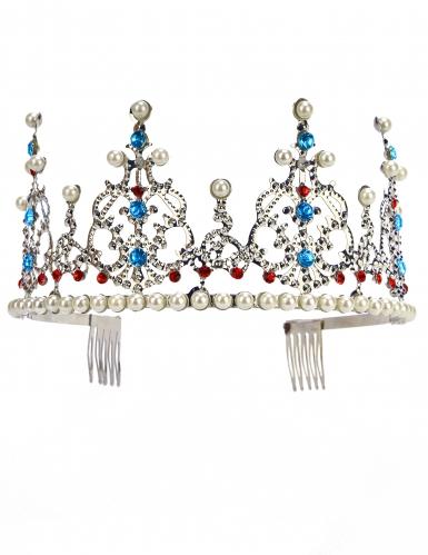 Zilverkleurige prinsessen kroon voor volwassenen