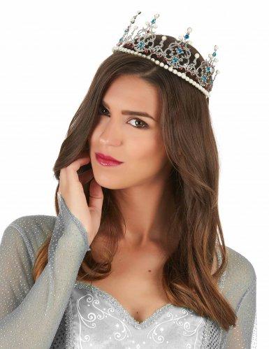 Zilverkleurige prinsessen kroon voor volwassenen-1