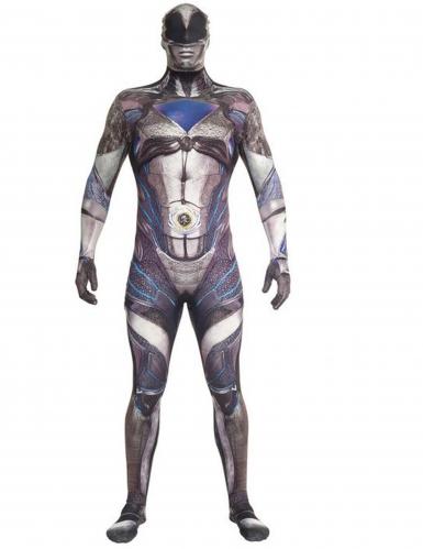 Luxe Morphsuits™ zwarte Power Rangers™ kostuum voor volwassenen