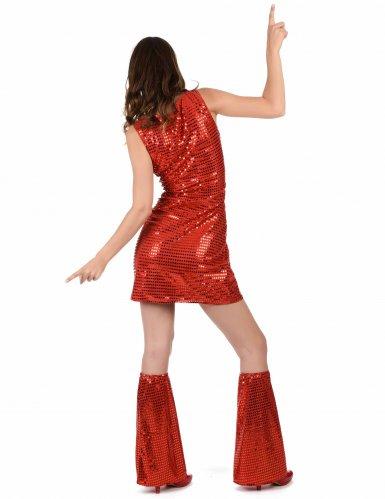 Rood disco kostuum voor dames-2