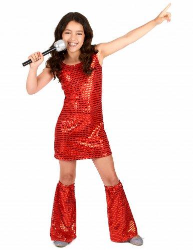 Rood disco kostuum voor meisjes