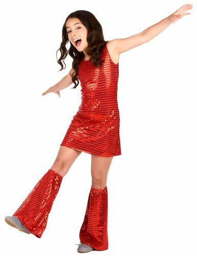 Rood disco kostuum voor meisjes-1