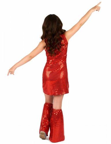 Rood disco kostuum voor meisjes-2
