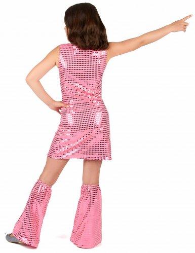 Roze disco kostuum met lovertjes voor meisjes-2