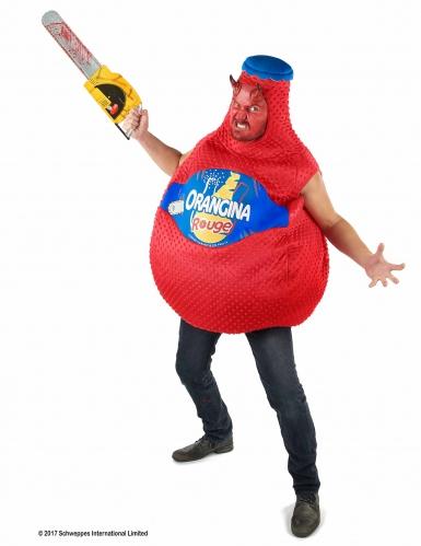 Rode Orangina™ fles kostuum voor volwassenen