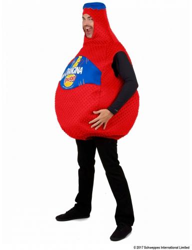 Rode Orangina™ fles kostuum voor volwassenen-1